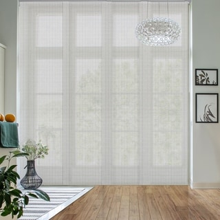 "GoDear Design Natural Woven Adjustable Sliding Panel, Semi-Privacy, 45.8""- 86"" W x 96"" L"