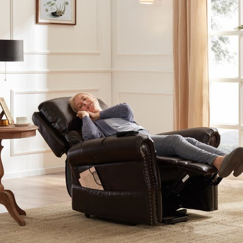 Copper Grove Yeghegnadzor Faux Leather Power Lift Reclining Chair