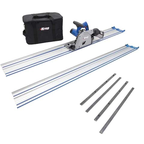 Kreg ACS-SAW Adaptive Cutting System Saw Bundle with An Extra 62-inch Guide Track and A Guide Track Connectors Set