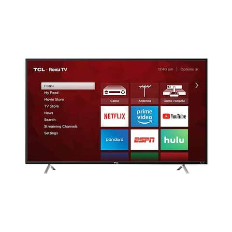 "TCL 55"" Class 4K (2160P) UHD Smart LED TVW/ROKU - Refurbished"