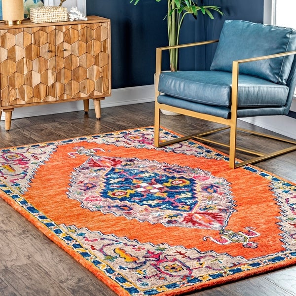 The Curated Nomad Costani Multicolor Medallion Area Rug