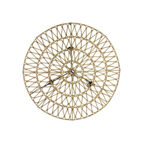 """East at Main's Sunnyvale Round Rattan Wall Light, 42"""""""