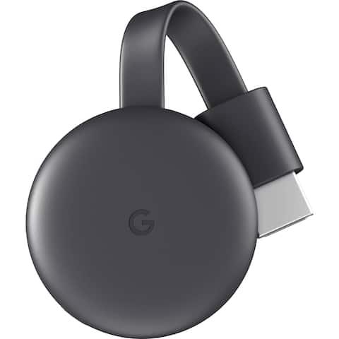 Google Chromecast (Charcoal, 3rd Generation) - Charcoal