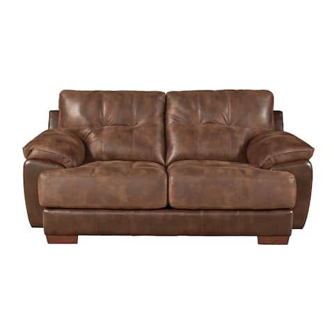 Devante Leather Look Loveseat