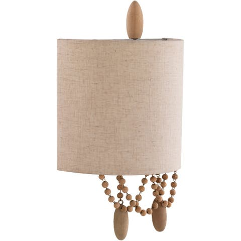 The Curated Nomad Ashwood Traditional Beaded 2-light Wall Sconce