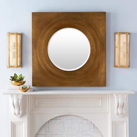 Ely Modern Gilded Glass 2-Light Wall Sconce