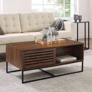 "Strick & Bolton Hilla 42"" Slat Door Coffee Table - 42 x 22 x 18H"