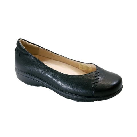 PEERAGE Veda Extra Wide Width Casual Comfort Leather Loafers