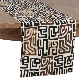 Cotton Kuba Cloth Table Runner