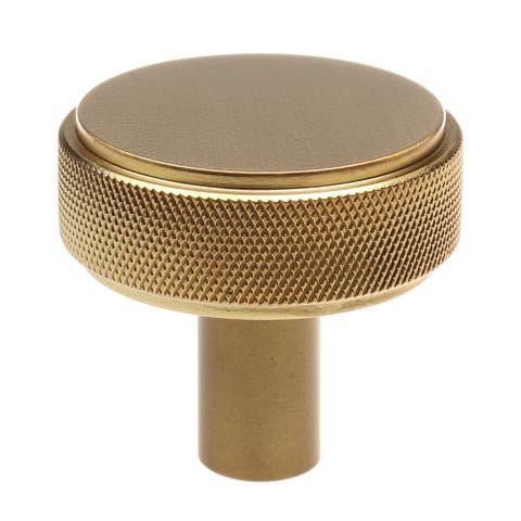GlideRite 10-Pack 1-1/2 Inch Solid Round Knurled Cabinet Knob