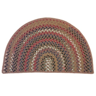 Link to Colonial Mills Multi-Color Hearth Indoor Braided Slice Rug Similar Items in Farmhouse Rugs