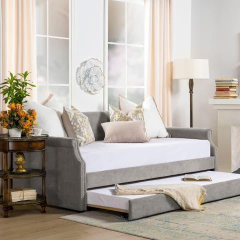 The Gray Barn Greenstone Kirk Upholstered Trundle Daybed