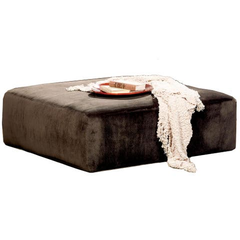 Hilton 40 Inch Suede Cocktail Ottoman