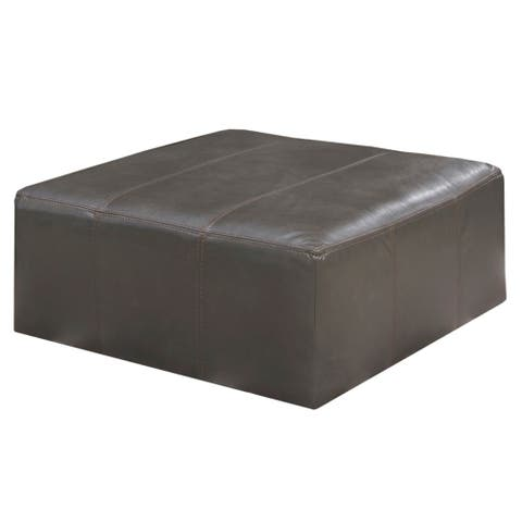 Lucios 40 Inch Leather Cocktail Ottoman
