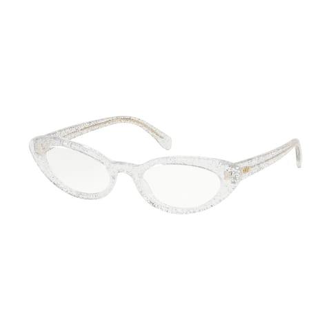 Miu Miu MU 01SV 1481O1 52 Glitter Silver Woman Cat Eye Eyeglasses