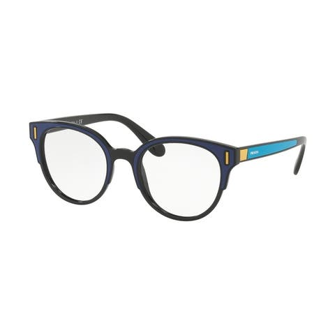 Prada PR 08UV SUI1O1 50 Black/blue/yellow Woman Phantos Eyeglasses