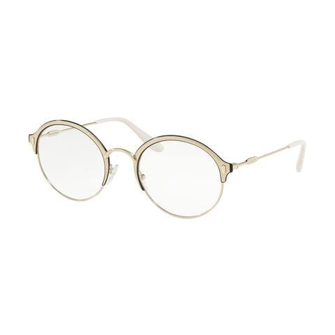 Prada PR 54VV 2731O1 51 Pale Gold/matte Pale Gold Woman Round Eyeglasses