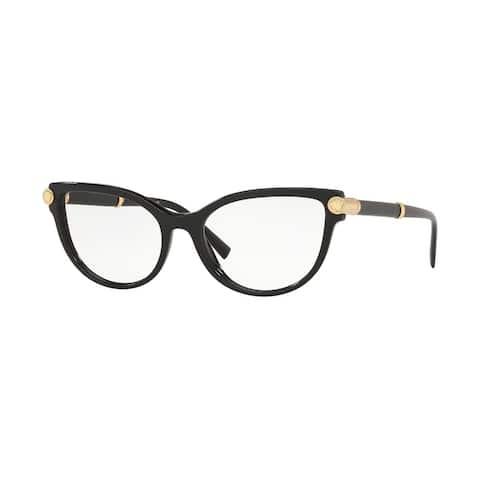 Versase VE3270Q GB1 54 Black Woman Cat Eye Eyeglasses