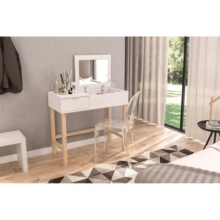 Link to Polifurniture Pull Top Vanity, White Similar Items in Bedroom Furniture