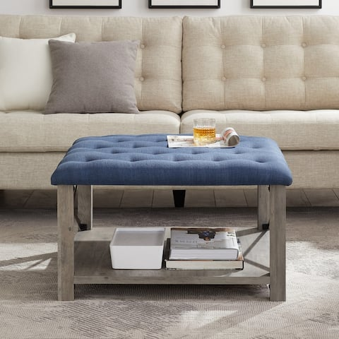 "The Gray Barn 30"" Square Tufted Seat Ottoman"