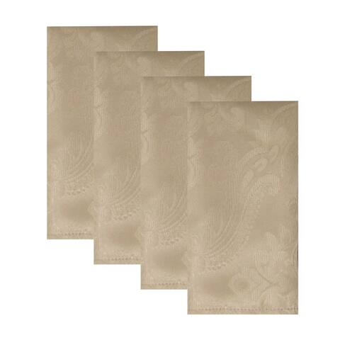 "Caiden Elegance Damask Napkin, Set of 4 - 17""x17"""