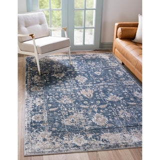 Porch & Den Regal Distressed Floral Field Area Rug