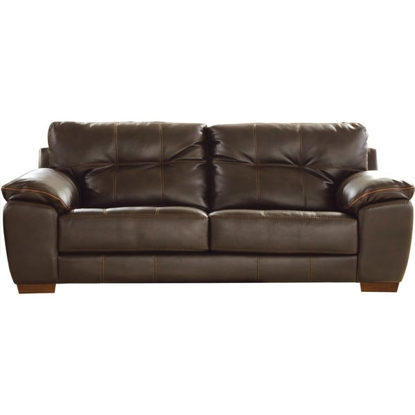 Super Shop Elmer Faux Leather Sofa On Sale Ships To Canada Gmtry Best Dining Table And Chair Ideas Images Gmtryco