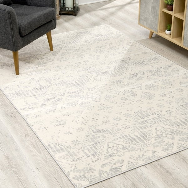 Rug Branch Havana Modern Abstract Area Rug and Runner, Ivory Grey
