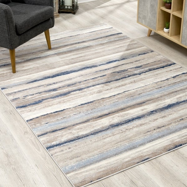 Rug Branch Havana Modern Abstract Area Rug and Runner, Blue