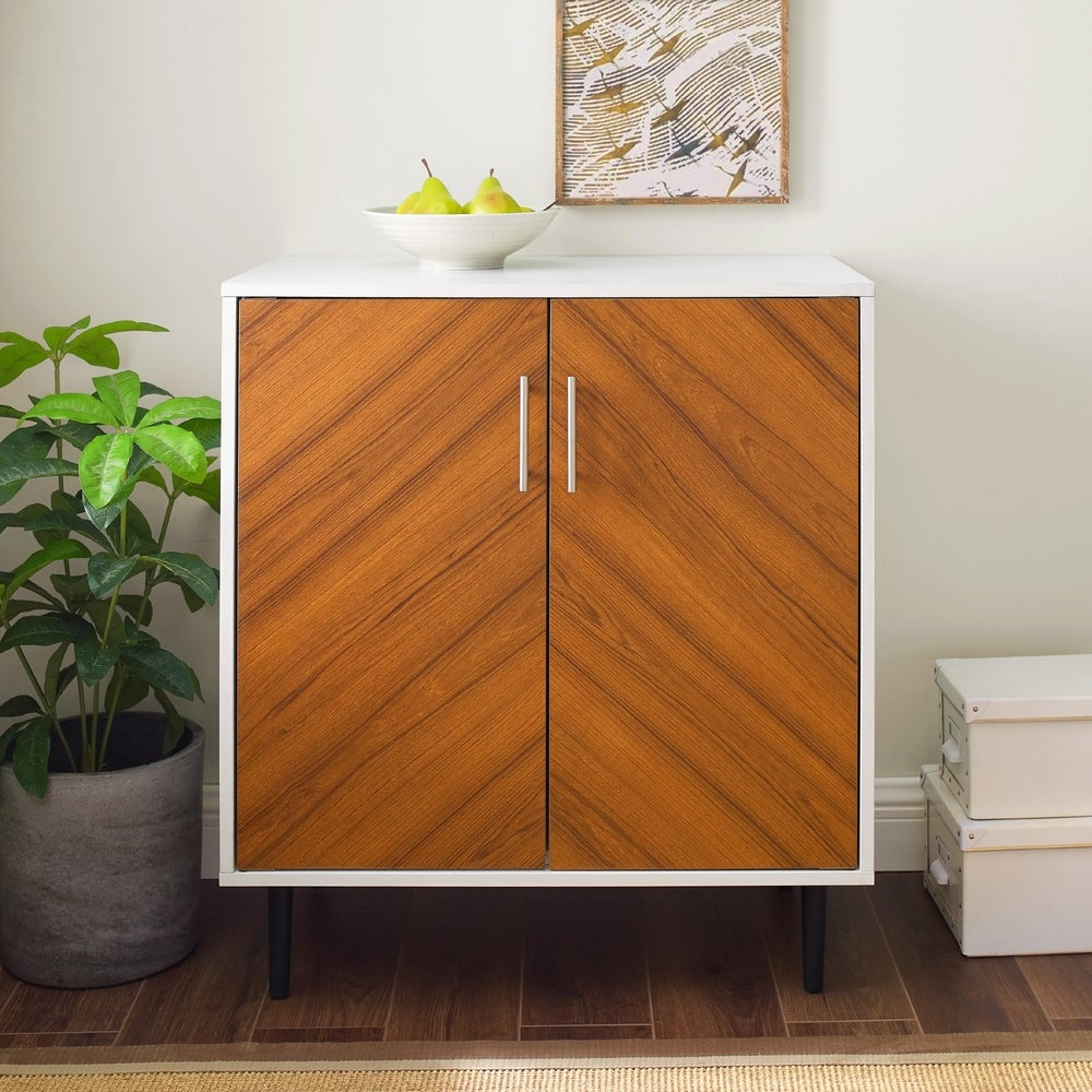 Carson Carrington Lindesberg Modern Cabinet (White / Acorn Bookmatch)