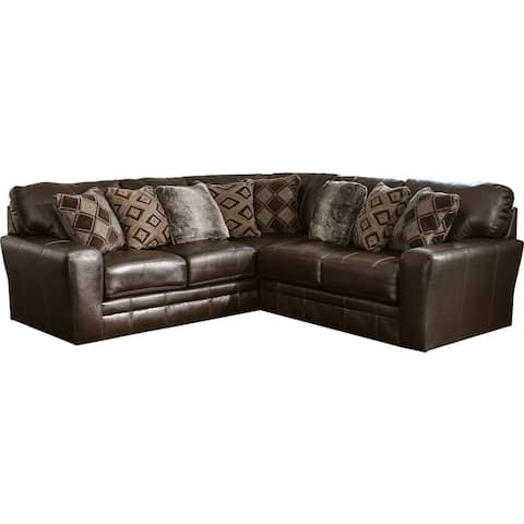 Lucios Leather Two Piece Sectional Sofa