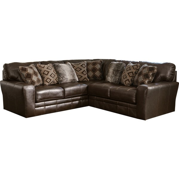 Lucios Leather Two Piece Sectional Sofa. Opens flyout.