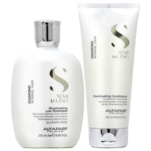 Alfaparf Semi Di Lino Diamond Illuminating Shampoo 8.45oz & Conditioner 6.76oz