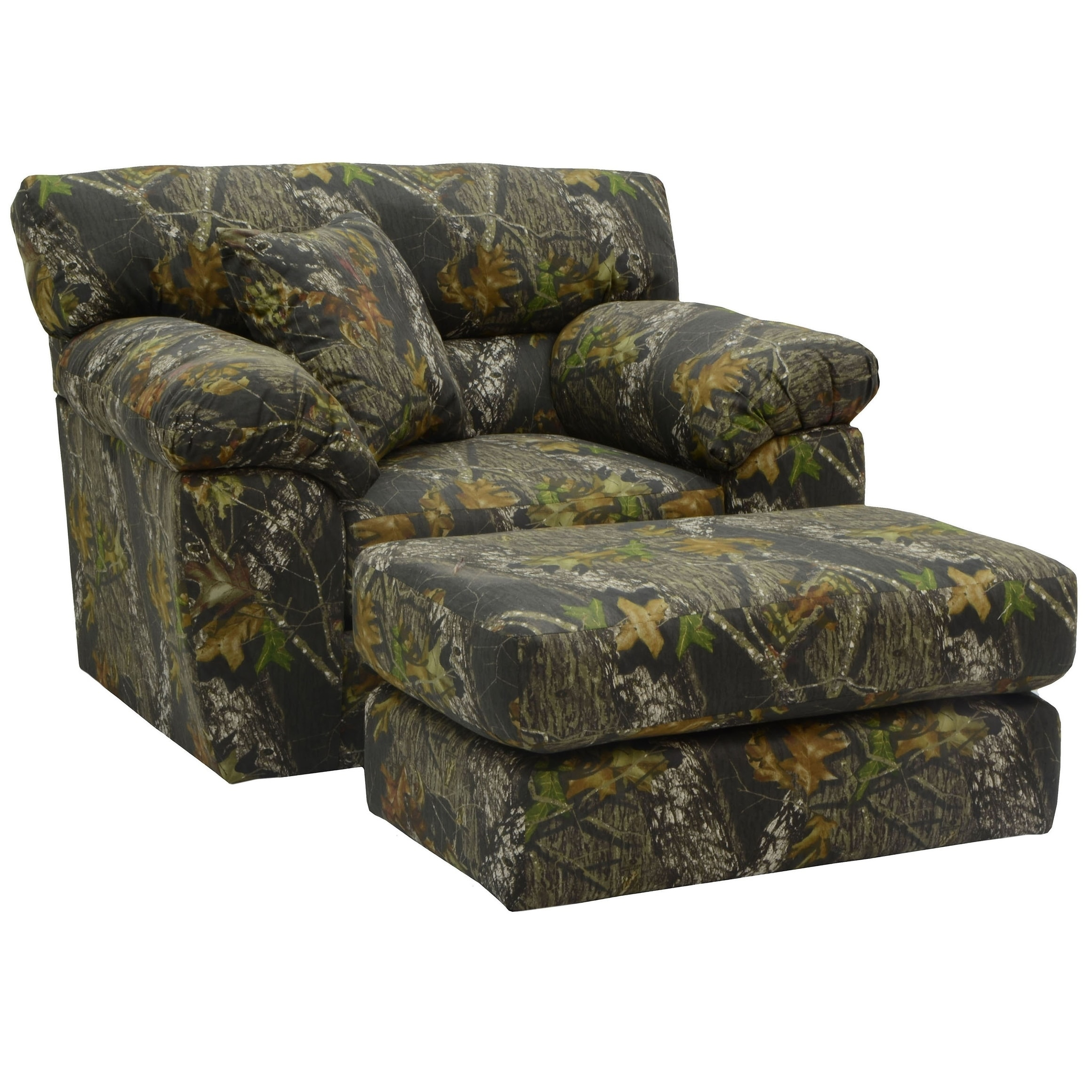 Alaska Rustic Living Room Chair And Ottoman Living Room Set