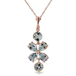 Link to 3.15 Carat 14K Rose Gold Necklace Aquamarine Similar Items in Necklaces