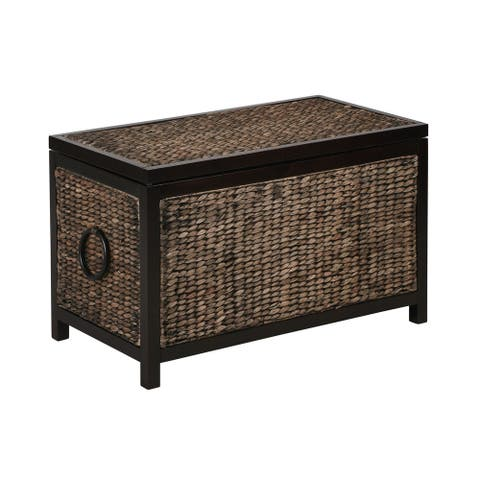 Wilson Storage Trunk, Black Wicker
