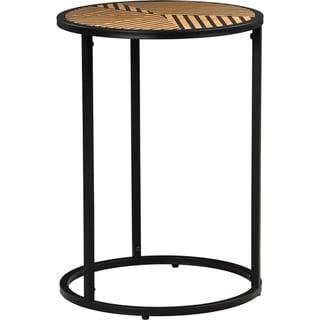 Wilson Round Side Table, Black