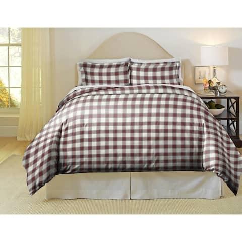 Pointehaven Manchester 180 GSM Luxury Flannel Duvet Set