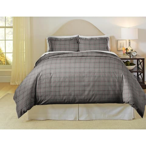 Pointehaven Derby 180 GSM Luxury Flannel Duvet Set