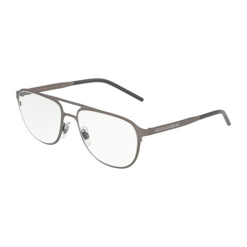 Dolce & Gabanna DG1317 1286 54 Matte Dark Gunmetal Man Pilot Eyeglasses