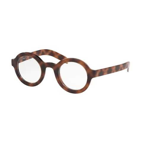 Prada PR 01XV 5191O1 43 Spotted Brown Man Round Eyeglasses