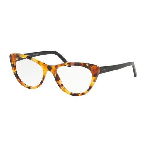 Prada PR 05XV UF31O1 53 Orange Havana Woman Cat Eye Eyeglasses