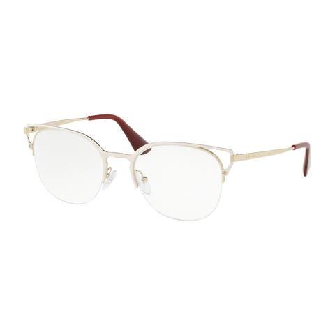 Prada PR 64UV LFB1O1 51 Ivory/pale Gold Woman Phantos Eyeglasses