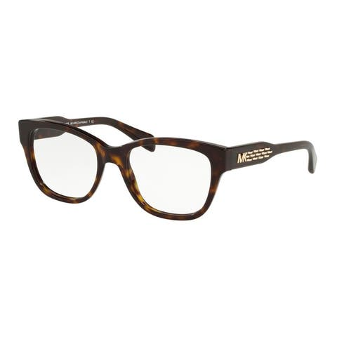 Michael Kors MK4059 3006 52 Dark Tort Woman Square Eyeglasses - Tortoise