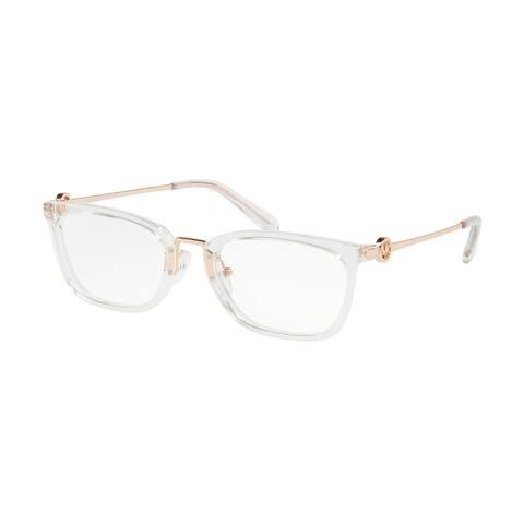 Michael Kors MK4054 3105 52 Crystal Clear Woman Rectangle Eyeglasses
