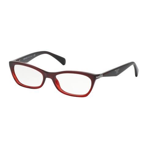 Prada PR 15PV MAX1O1 53 Bordaux Gradient Red Woman Irregular Eyeglasses