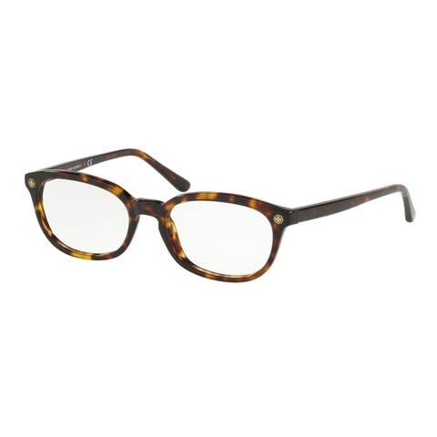 Tory Burch TY2091 1728 52 Dark Tort Woman Rectangle Eyeglasses - Tortoise