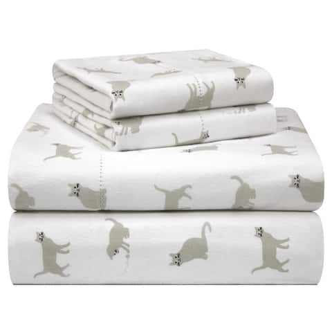 Porch & Den Stallion Pattern Printed Cotton Flannel Bed Sheet Set