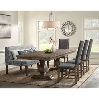 Picket House Hayward 6PC Dining Set-Table, 4Tall Back Chairs&Settee
