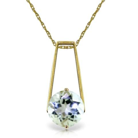 1.45 Carat 14K Gold Gold Necklace Aquamarine
